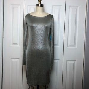 Alice and Olivia Metallic Mini Dress